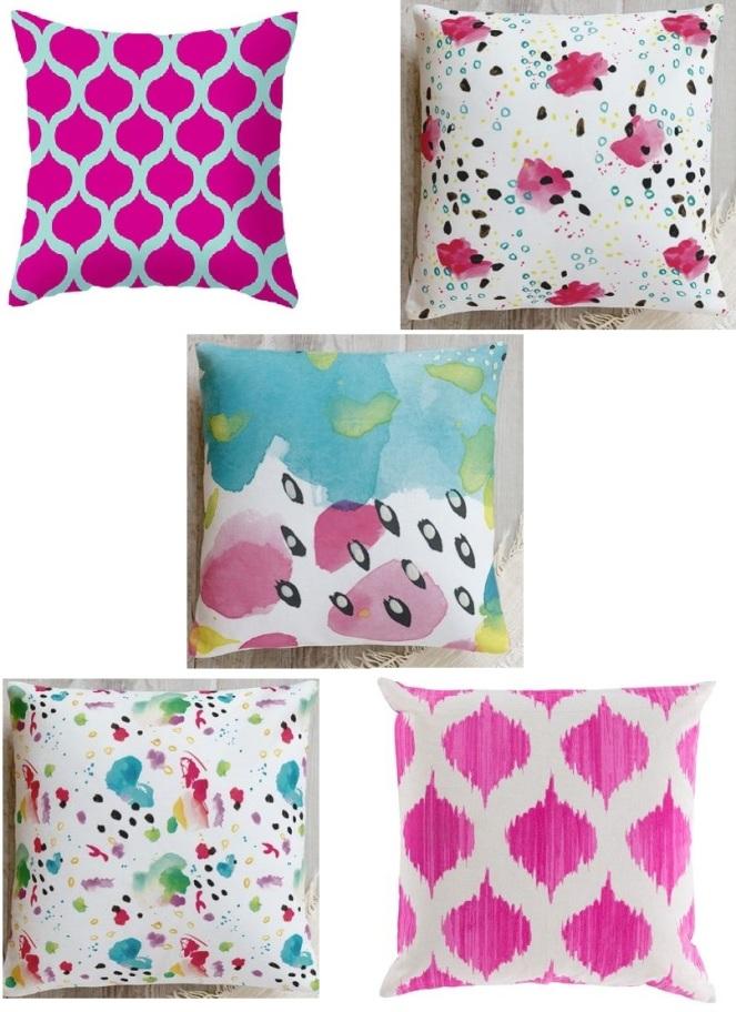 magenta pillows