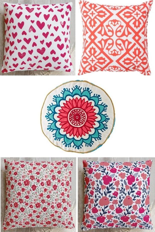 pink pillows